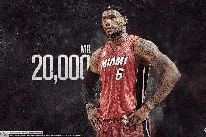 LeBron James 20,000 Points Wallpaper by IshaanMishra LeBron James 20,000  Points Wallpaper by IshaanMishra