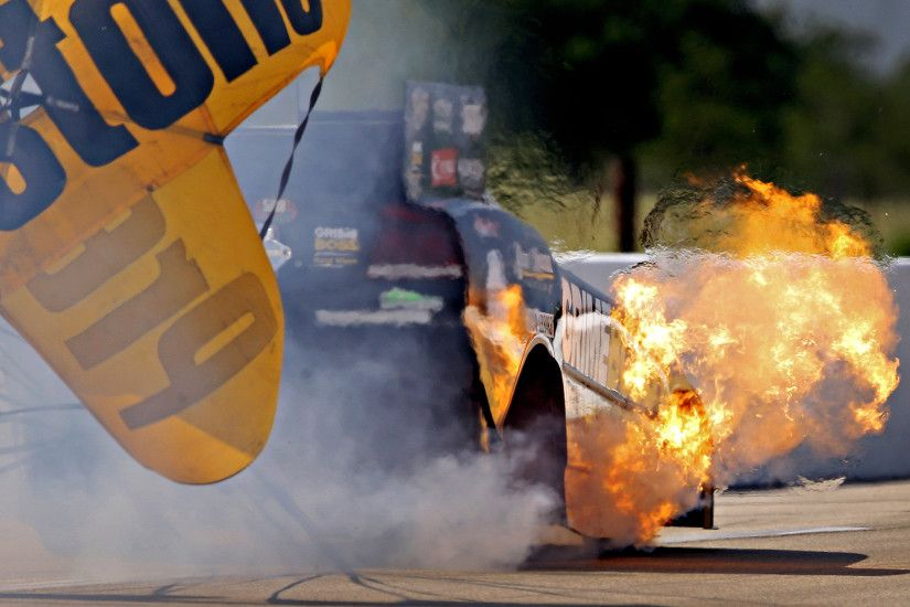 Nhra funny drag racing race fire explosion wallpaper