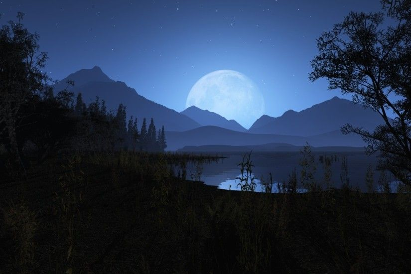 Night time in the mountains HD Wallpaper 1920x1080 Night ...