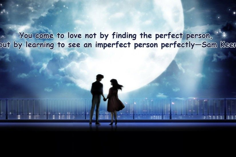 Love Quotes With Cute Couple Images Anime 20+ Love Quotes Wallpaper - Romantic Couple Images