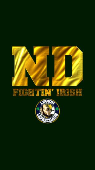 Fighting irish · Notre Dame iPhone/Android Wallpaper for your Smart Phone.  Save and Download Image from