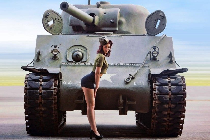 Tanks Pinup World War II Women