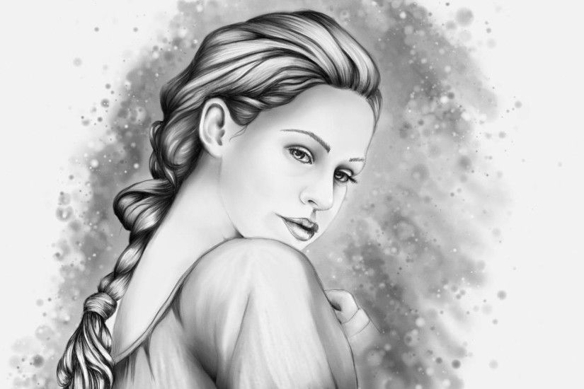 ... Pencil Sketch Draw Wallpaper In Beautiful Girl Hd Pencil Art Wallpapers  Group (64+) ...