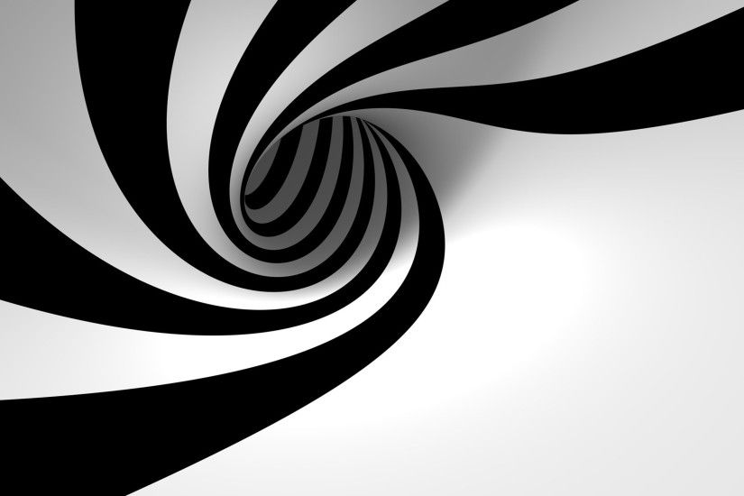 HYpnotizing Spiral Black And White Wallpaper