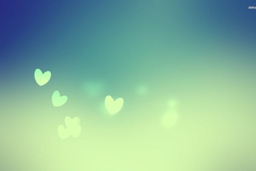 ... Floating blue hearts