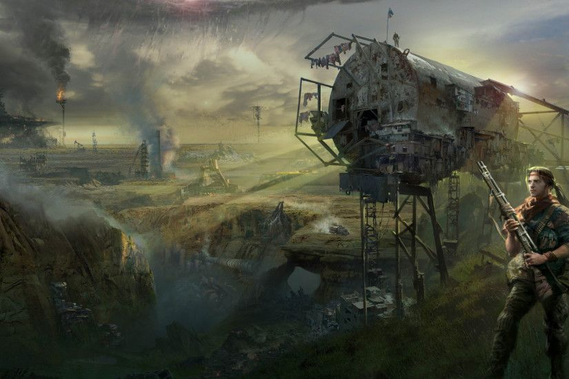 ... WallpaperSafari CGI, Artwork, Apocalyptic, Rust, Science Fiction  Wallpapers HD .