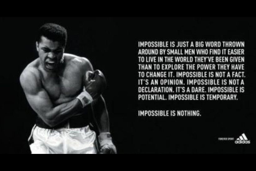 Impossible Is Nothing Muhammad Ali Wallpaper Quotes HD