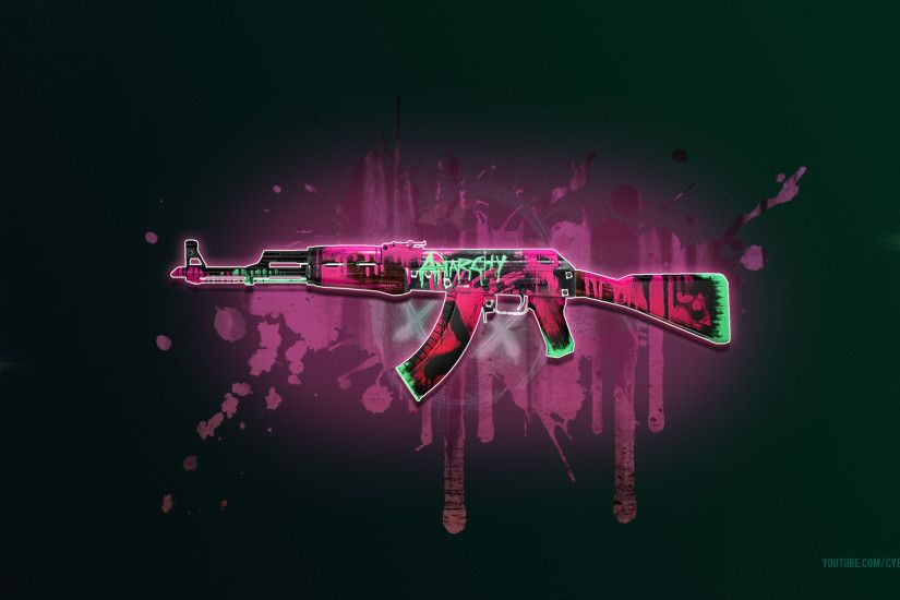 CSGO AK 47 Neon Revolution Wallpaper 1080p
