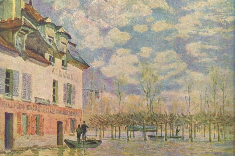 "ALFRED SISLEY: ""L'inondation à Port-Marly"", ..."