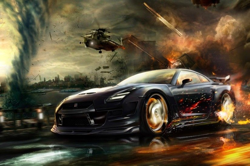 Sports Car fire Backgrounds Wallpapers With Resolutions 1920×1080 .