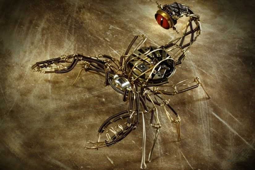 46 Mechanical Wallpapers light, shadows, digital art, scorpions, mechanical  creature - Free . ...