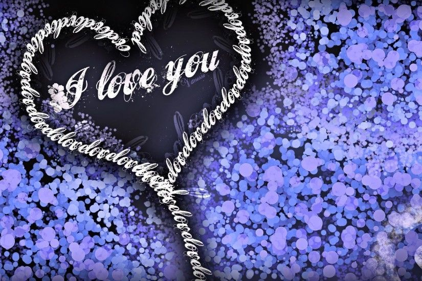 Images For > Blue And Purple Hearts Wallpaper