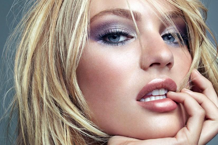 Candice Swanepoel Face Close-Up wallpaper