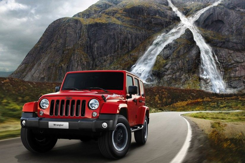 Red Jeep Wrangler Wallpaper 49743