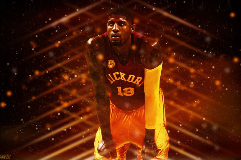 Paul George Indiana Pacers Hickory Wallpaper