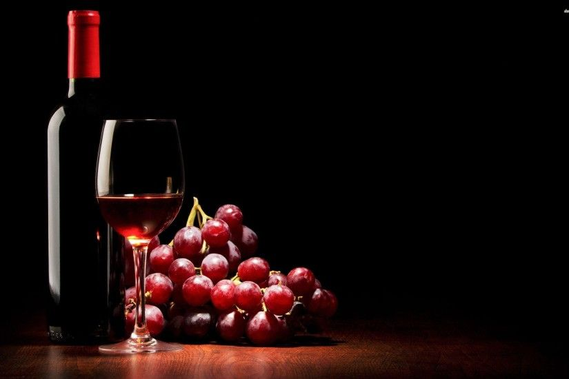 Glass of red wine wallpaper - 1117603