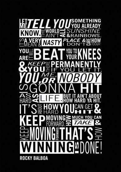 Rocky Balboa Typography Poster from Cyankart