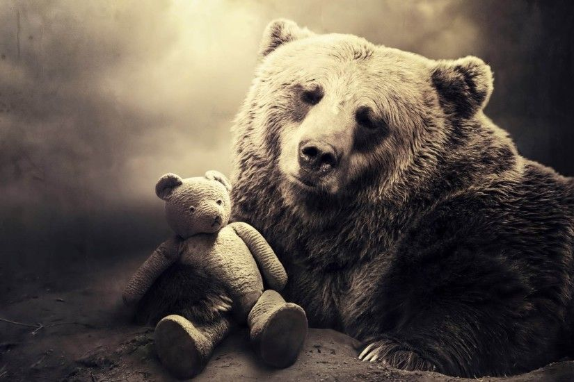 Bear with Teddy bear