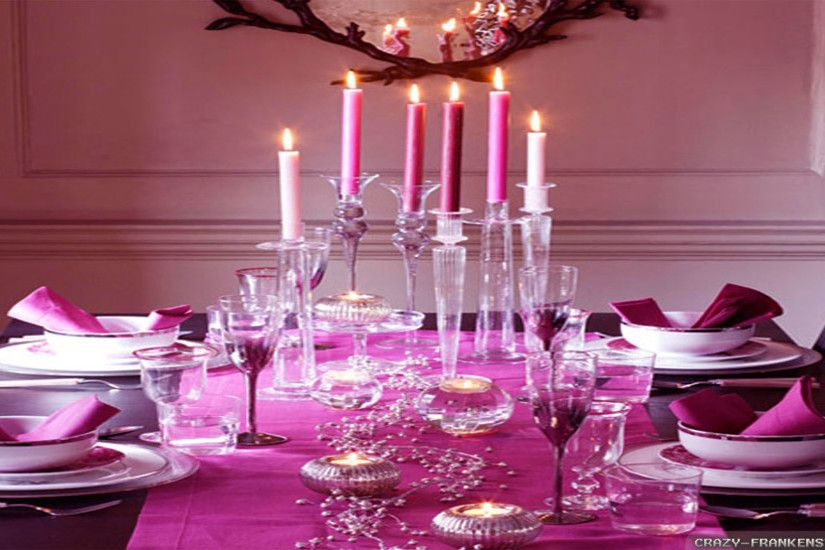 Wallpaper: Pink Christmas romantic table wallpapers. Resolution: 1024x768 |  1280x1024 | 1600x1200. Widescreen Res: 1440x900 | 1680x1050 | 1920x1200