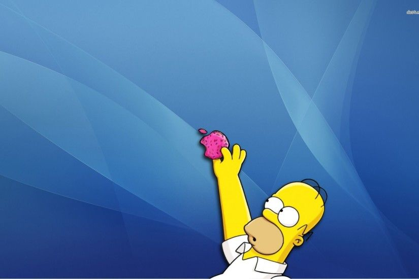 1920x1080 Homer simpson opera web browser the simpsons donuts wallpaper