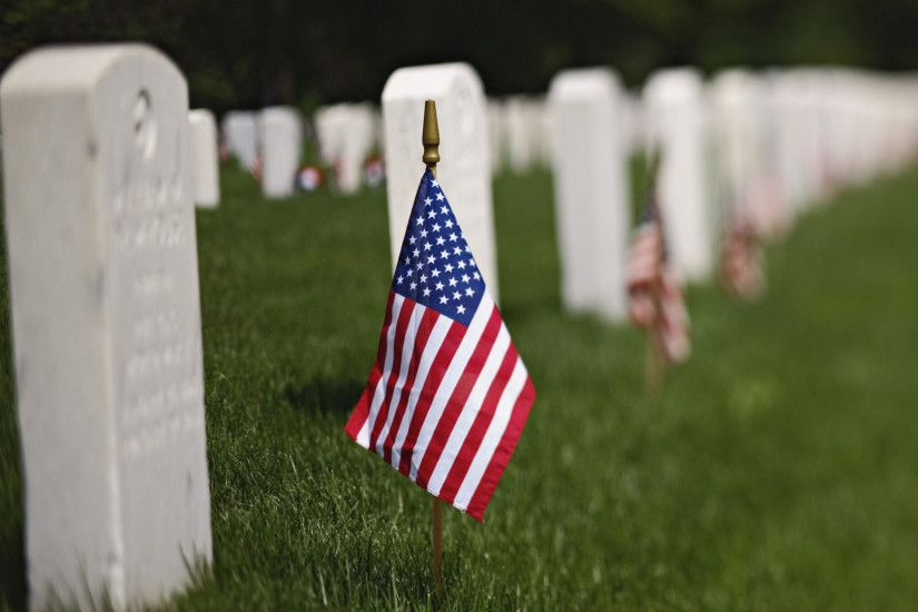 Download Wallpaper usa grass flag cemetery, 1920x1080, Memorial Day (USA)