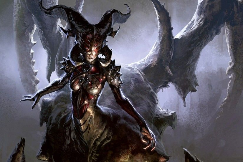 Demon Magic The Gathering Wallpaper 1920x1080px