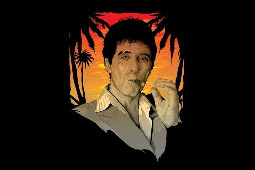 1920x1080 tony-montana-scarface-29459-1920x1080 scarface wallpaper HD free .