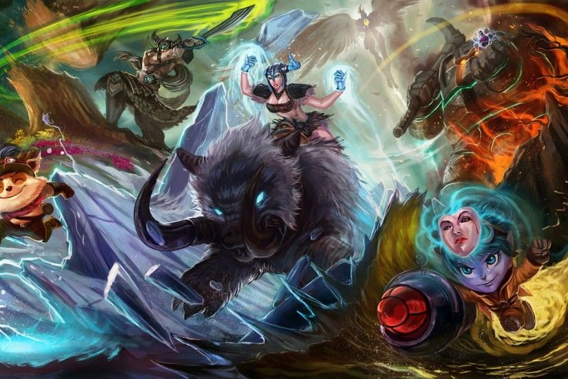 league of legends champions teemo sejuani tristana tryndamere nautilus kayle