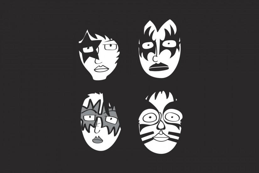 kiss minimalism kiss rock the group rock masks glam glam