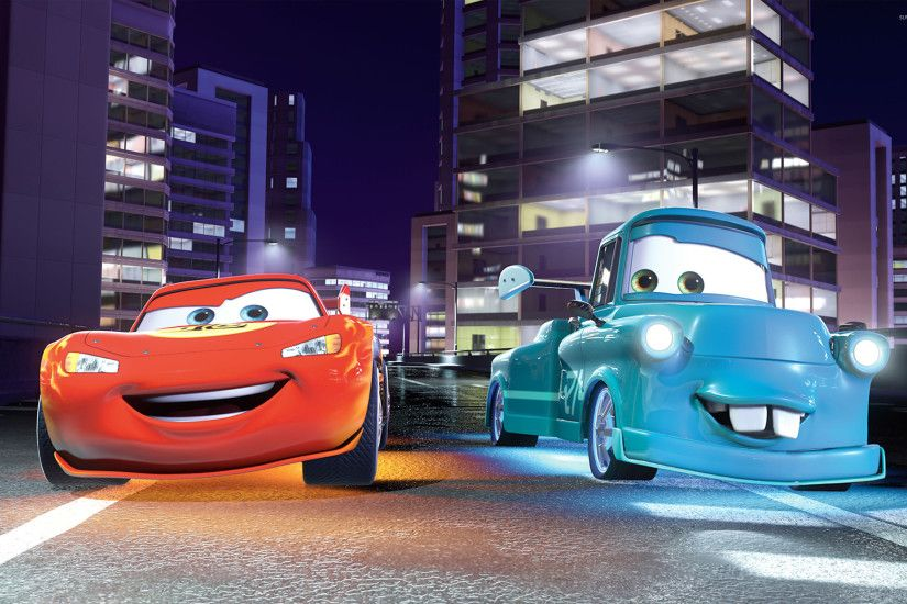 Lightning McQueen and Mater - Cars wallpaper