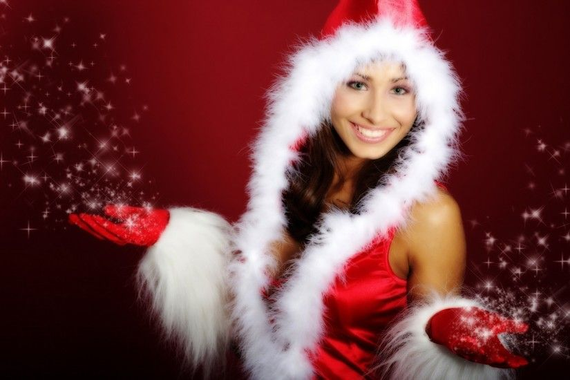 Santa Claus Girl New HD Wallpaper