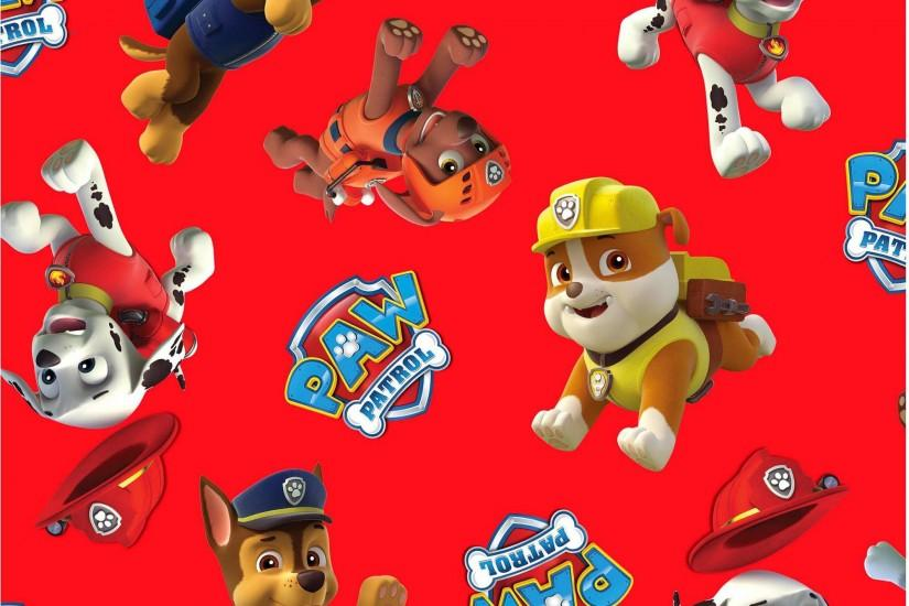 "Paw Patrol Pup Power Licensed 44"" Cotton Fabric By The Yard - Walmart.com"