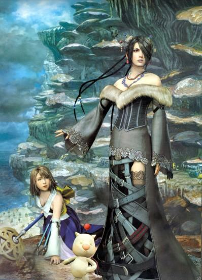 final fantasy video games yuna lulu final fantasy x 1612x2228 wallpaper