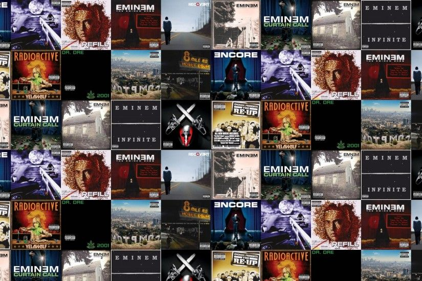 Download this free wallpaper with images of Eminem – Encore, Eminem – The  Slim Shady LP, Eminem – Relapse, Eminem – The Eminem Show, Eminem – Recovery,  ...