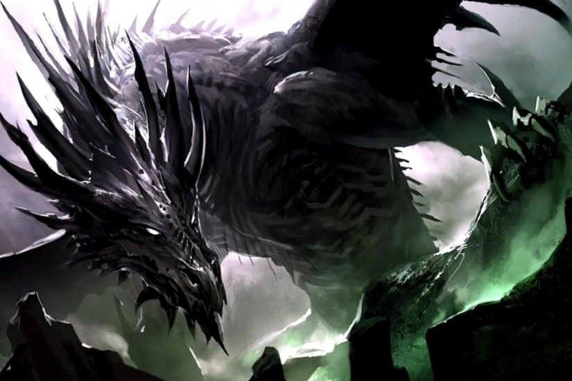 Wallpapers For > Dark Dragon Wallpaper