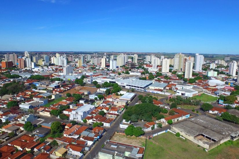 Aerial Footage Of The City Of Aracatuba In The State Of Sao Paulo