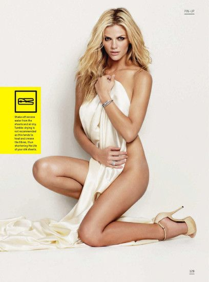Brooklyn Decker Semi-Naked on the Cover of Esquire Magazine