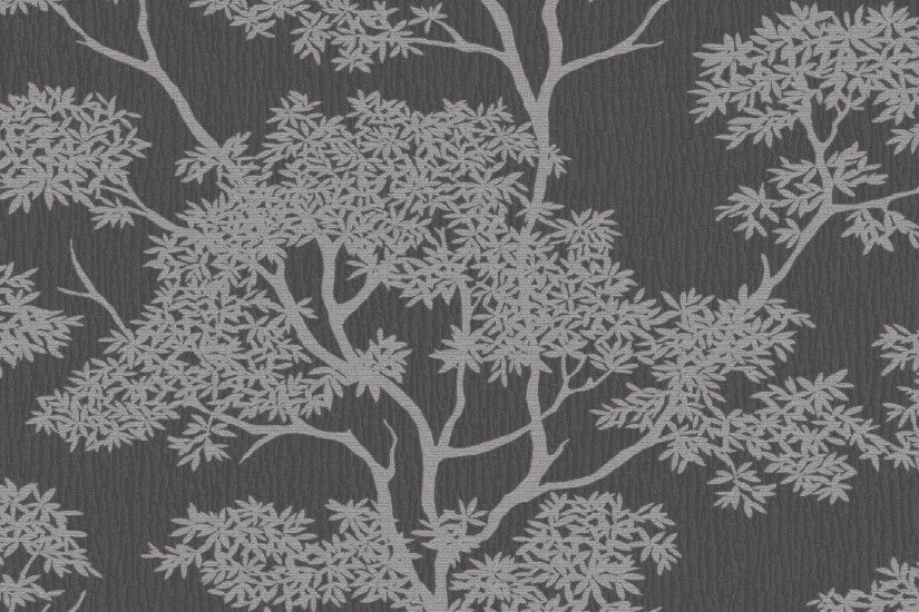 Glamour Tree Wallpaper Charcoal / Silver (ILW980066)