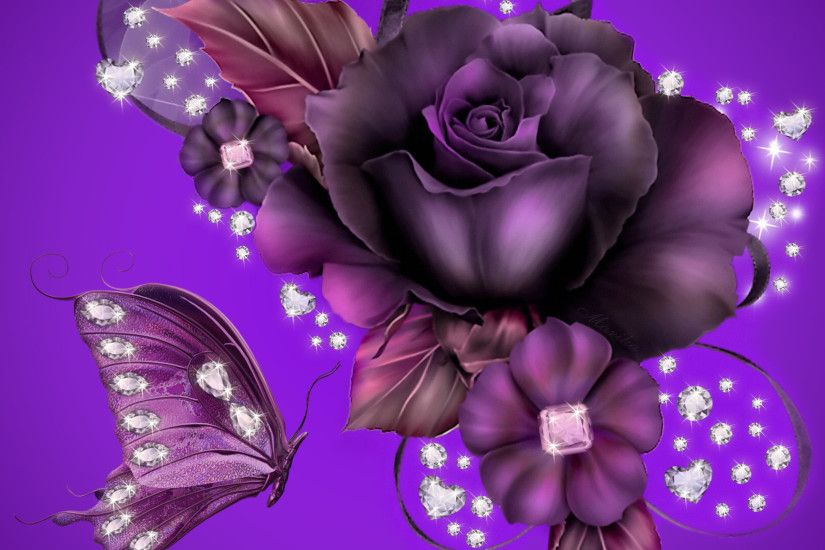 Purple Rose Background Wallpaper | Purple Rose Desktop Background HD  wallpapers