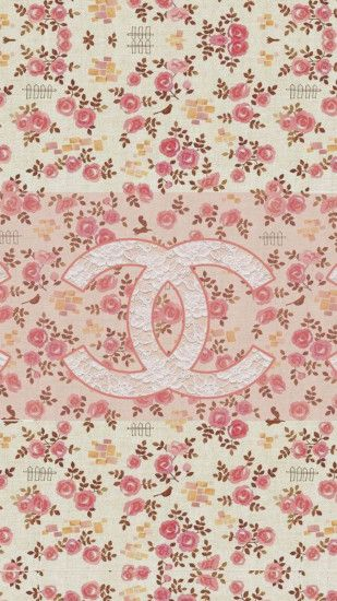 Coco Chanel Flowers Pattern Logo #wallpaper