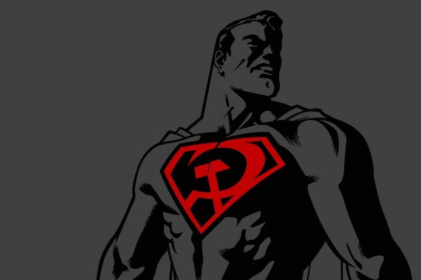 Download now full hd wallpaper superman communist logo ussr ...
