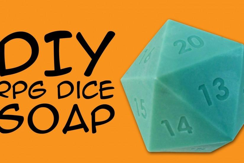 DIY SOAP - d20 RPG Dice Soap Craft: Crafty McFangirl Tutorial