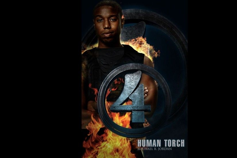 Fantastic Four 2015 Michael B.Jordan As Human Torch Wallpapers
