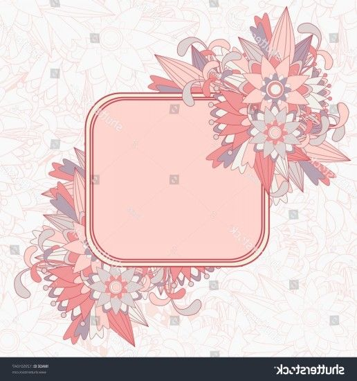 Beautiful Floral Background Framed Text Box