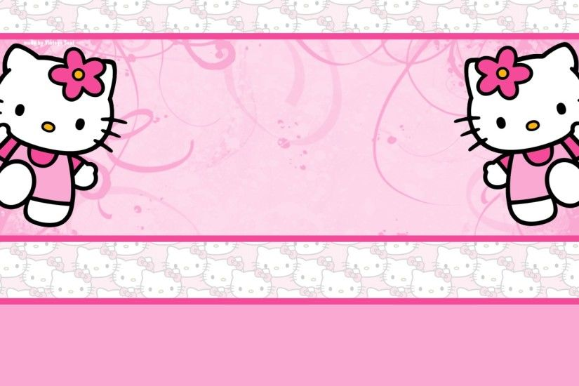 Pink Gello Kitty Background