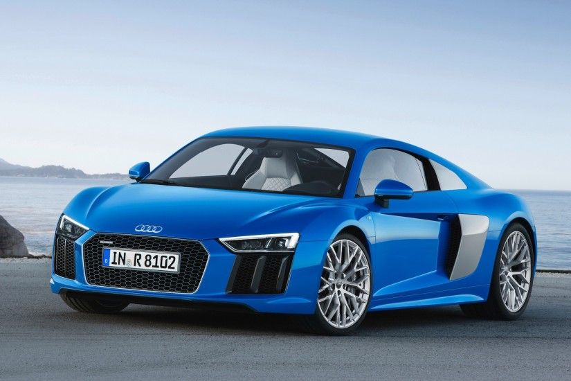 2016 Audi R8 Blue Car Wallpaper