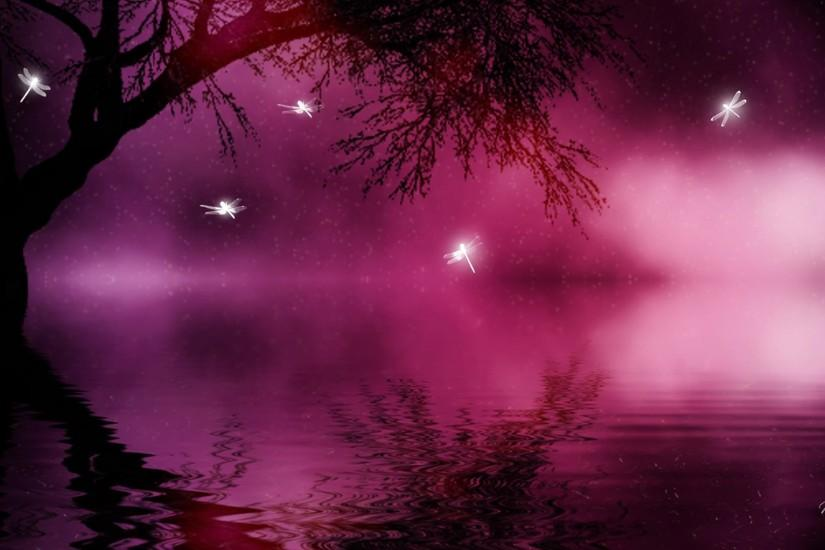 Pink Sparkling Magical Background