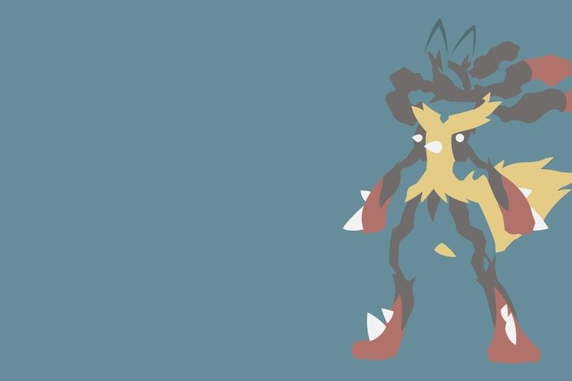Lucario, Anime, Minimalism, Simple Background wallpaper thumb