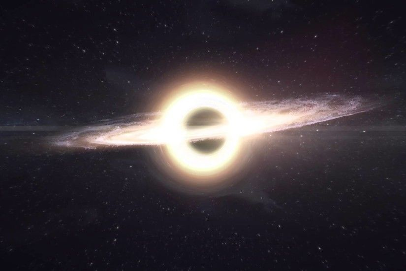 Interstellar Black Hole Wallpaper