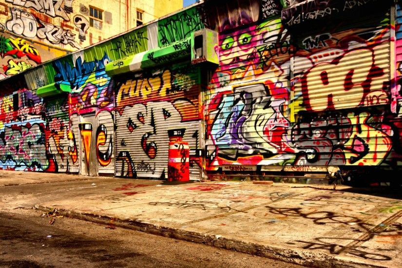 Graffiti asphalt wallpaper